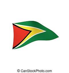 Guyana flag, vector illustration