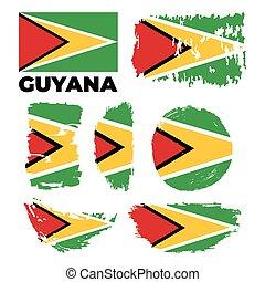 Guyana flag. Vector illustration on a white