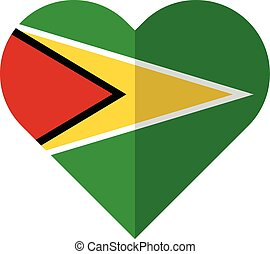 Guyana flat heart flag