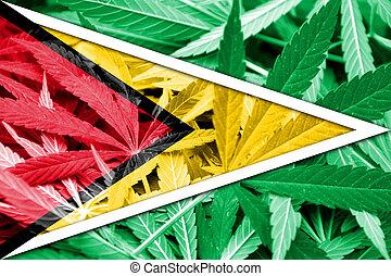 guyana kennzeichen, auf, cannabis, hintergrund., droge, policy., legalization, von, marihuana