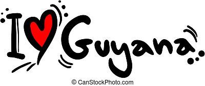 Guyana love - Creative design of guyana love