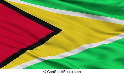 Guyana Naval Ensign Flag Closeup Seamless Loop - Naval ...