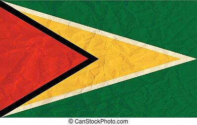Guyana paper  flag