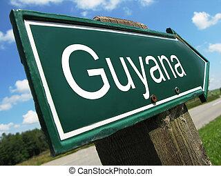 Guyana road sign