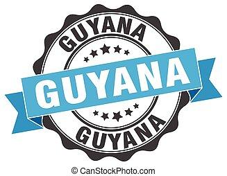Guyana round ribbon seal