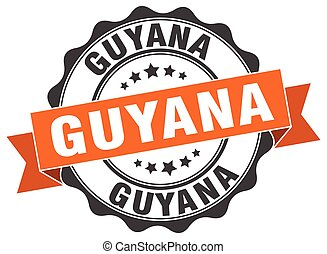 Guyana round ribbon seal