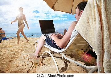 guy's, él, vacaciones
