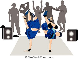 Guys dancers breakdance street