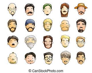guys with beard illustration - guys with beard style...