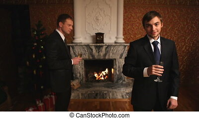 Guys with champagne