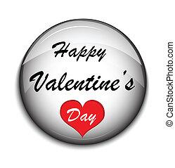 guzik, biały, backgrounde, valentine