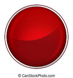 guzik, czerwony