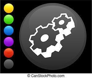 guzik, maszynowa część, internet, okrągły, ikona