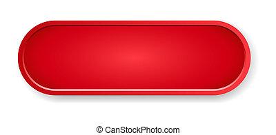 guzik, połyskujący, czerwony