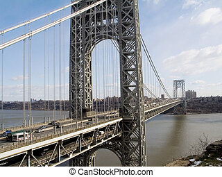 GW Bridge View - A wide view of the George Washington Bridge...
