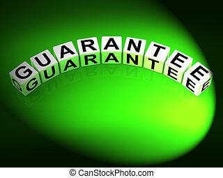 gwarantować, jarzyna pokrajana w kostkę, pokaz, fant, od, ryzyko, wolny, guaranteed