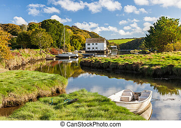 Gweek Cornwall England UK - The picturesque village of Gweek...