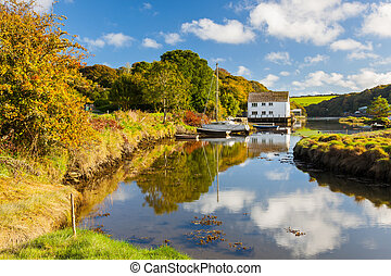 Gweek Cornwall England UK - The picturesque village of Gweek...