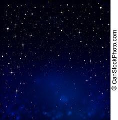 gwiaździsty, niebo nocy