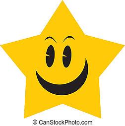 gwiazda, żółty
