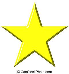 gwiazda, 3d