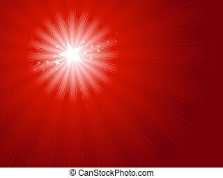 gwiazda, boże narodzenie, czerwony