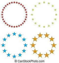 gwiazda, chorągiew, ikona