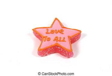 gwiazda, cukierek