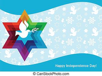 gwiazda, izrael, pokój, dawid, biała gołębica, dzień,...