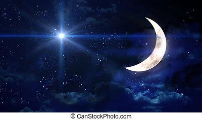 gwiazda, krzyż, z, księżyc
