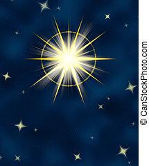 gwiazda, lustrzany