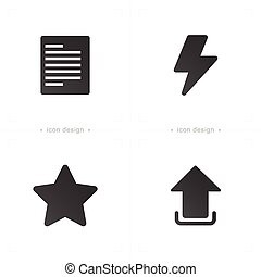 gwiazda, papier, media, komunikacja, ściąganie, ikona