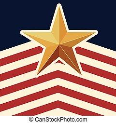 gwiazda, próbka, amerykańska bandera, tło, ikona