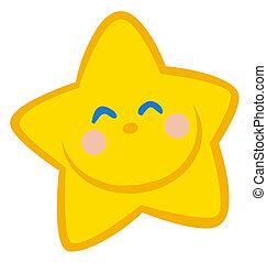 gwiazda, szczęśliwy