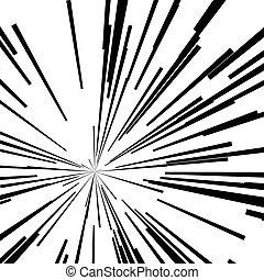 gwiazda wystrzelają, abstrakcyjny, kwestia, ruch, czarnoskóry, szybkość