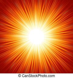 gwiazda wystrzelają, czerwony i żółty, fire., eps, 8