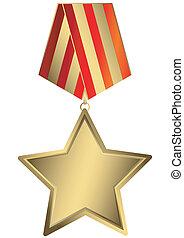 gwiazda, złoty, (vector)