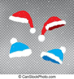 gwiazdkowe kapelusze, szablon, komplet