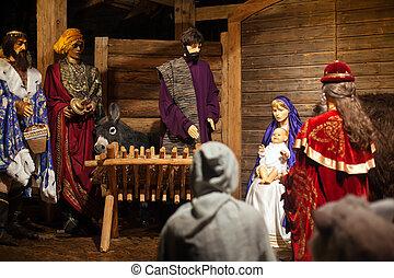 gwiazdkowy nativity, figurki