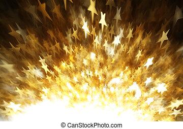 gwiazdy, abstrakcyjny