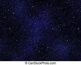 gwiazdy, w, przestrzeń, albo, niebo nocy