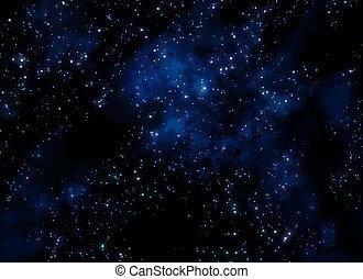 gwiazdy, w, przestrzeń