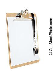 gwizd, biały, clipboard, tło