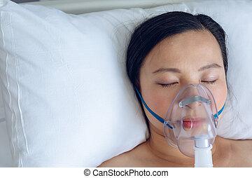 gyámság, női, maradék, kórház, türelmes, ágy