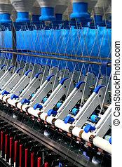gyár, textil