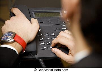 gyártás, egy, phonecall hívás