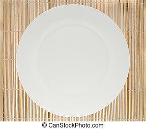 gyékényszőnyeg, állás, tányér