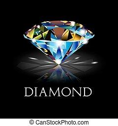 gyémánt, black háttér