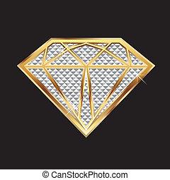 gyémánt, bling