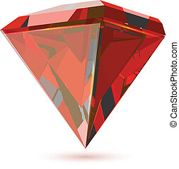 gyémánt, csillogó, elszigetelt, áttetsző, white.